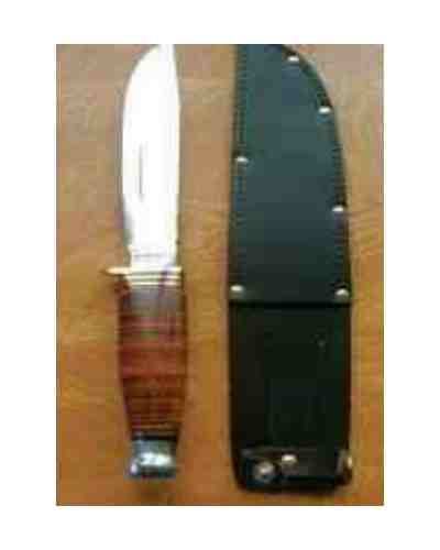 "4.5/5"" Bowie Knife with Leather Handle & Blood Groove"