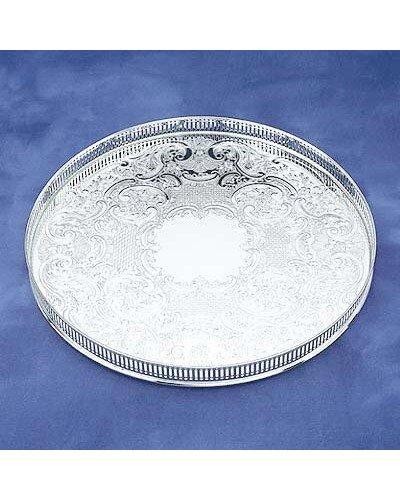 "Gallery Tray - 14"" Round Embossed"
