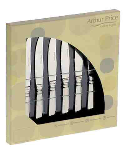 6 Steak Knives In Gift Box - AP Classic Rattail