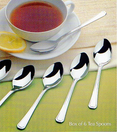6 Tea Spoons In Gift Box - AP Classic Royal Pearl
