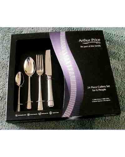 24 Piece Table Set In Gift Box - AP Classic Rattail