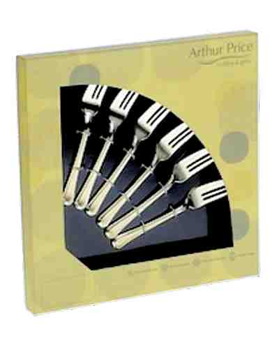 6 Pastry Forks In Gift Box - AP Classic Harley