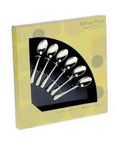 6 Tea Spoons In Gift Box - AP Classic Rattail
