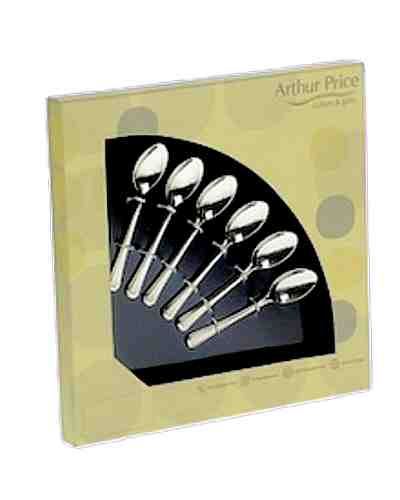 6 Coffee Spoons In Gift Box - AP Classic Rattail