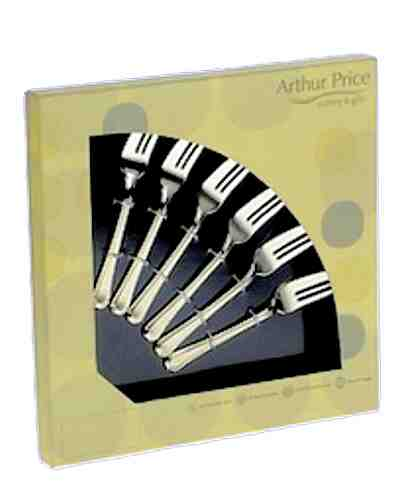 6 Pastry Forks In Gift Box - AP Classic Rattail