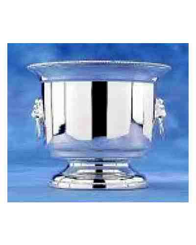 Ice Bucket With Strainer (Silver Plate)