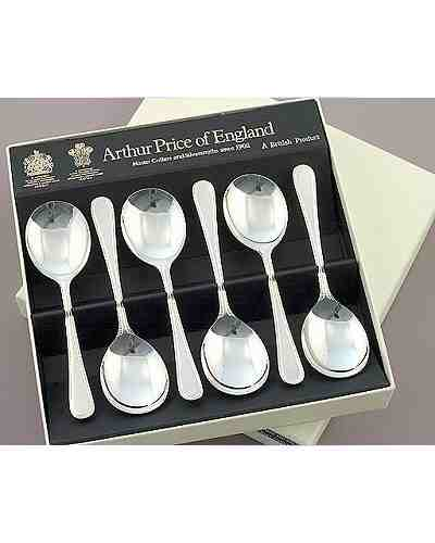 Fruit Spoons In Gift Box (6) APoE Sovereign Silver Plate Bead