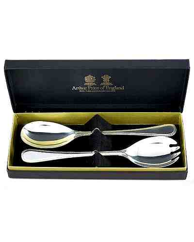 Salad Servers (Pair) - APofE Stainless Steel Bead