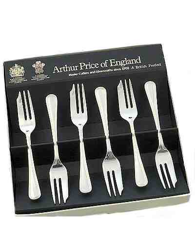Pastry Forks In Gift Box (6) APoE Stainless Steel Britannia