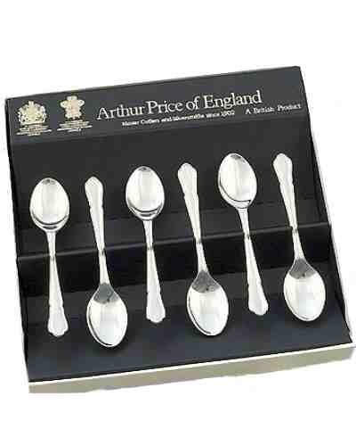 Coffee Spoons In Gift Box (6) APofE Sovereign Silver Plate Dubar