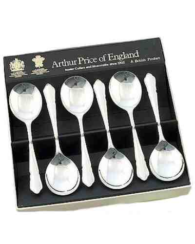 Fruit Spoons In Gift Box (6) APofE Sovereign Silver Plate Dubarr