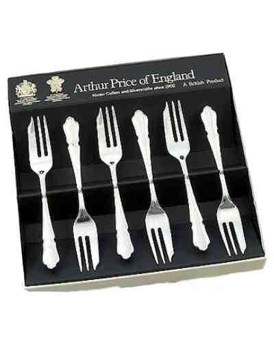 Pastry Forks In Gift Box (6) APoE Stainless Steel Dubarry