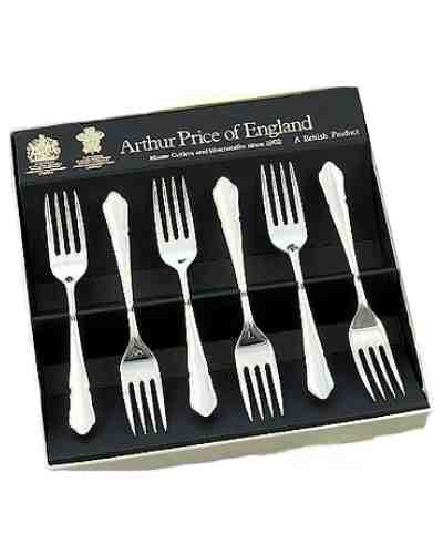 Tea / Fruit Forks In Gift Box (6) APoE S/Steel Dubarry