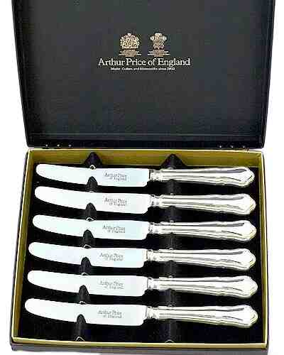 Tea Knives In Gift Box (6) APoE Stainless Steel Dubarry