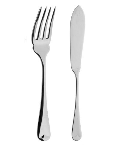 Fish Eaters (Pair) - APofE Sovereign Silver Plate Dubarry