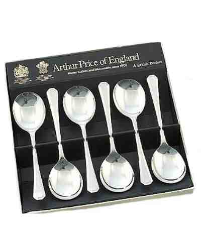 Fruit Spoons In Gift Box (6) APoE Stainless Steel Grecian