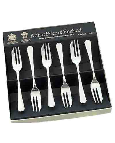 Pastry Forks In Gift Box (6) APoE Stainless Steel Grecian