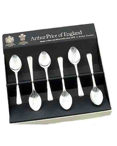 Coffee Spoons In Gift Box (6) APofE Sov. Silver Plate Harley