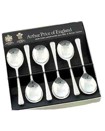Fruit Spoons In Gift Box (6) APoE Sovereign Silver Plate Harley