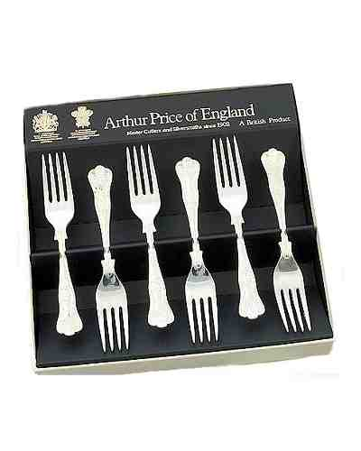 Tea / Fruit Forks In Gift Box (6) APoE Stainless Steel Kings