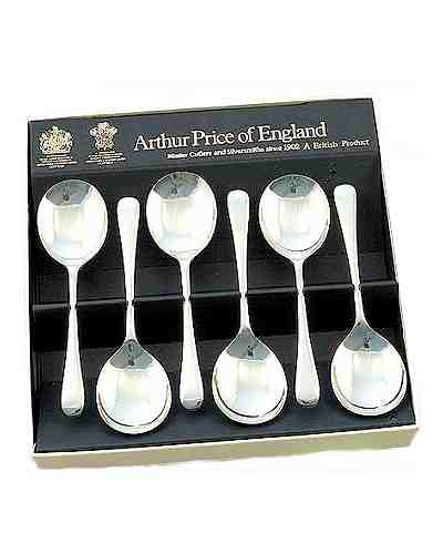 Fruit Spoons In Gift Box (6) APoE Stainless Steel Old Eng
