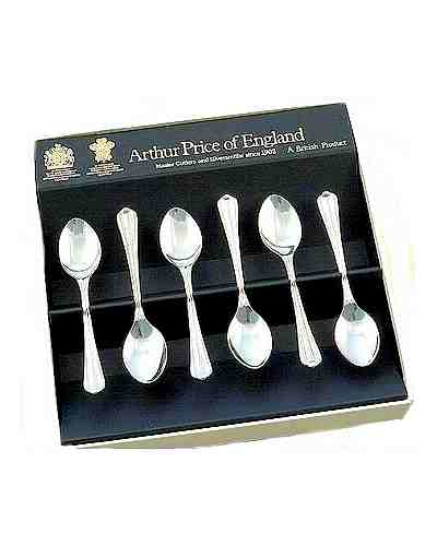 Coffee Spoons In Gift Box (6) APoE S/Steel Royal Pearl