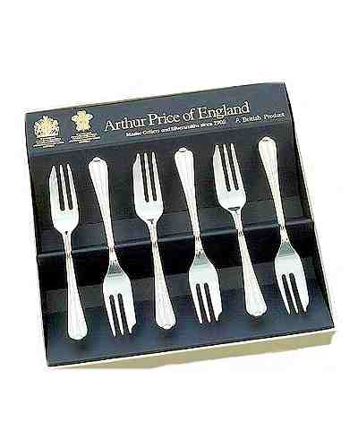 Pastry Forks In Gift Box (6) APoE S/Steel Royal Pearl