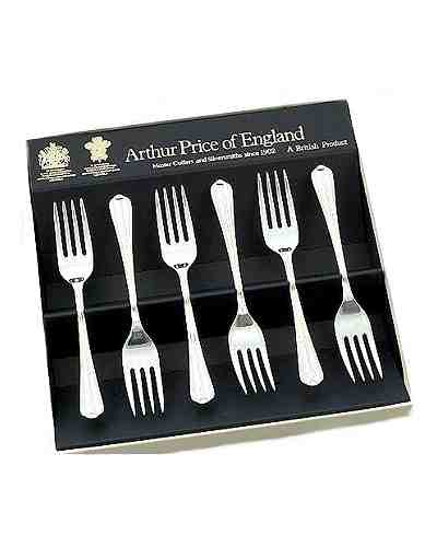 Tea / Fruit Forks In Gift Box (6) APoE S/Steel Royal Pearl