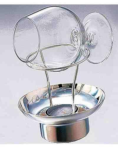 Brandy Warmer & Glass (Contemporary, Silver Plate)
