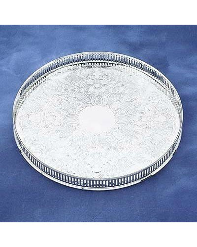 "Gallery Tray - 11"" Round Embossed"