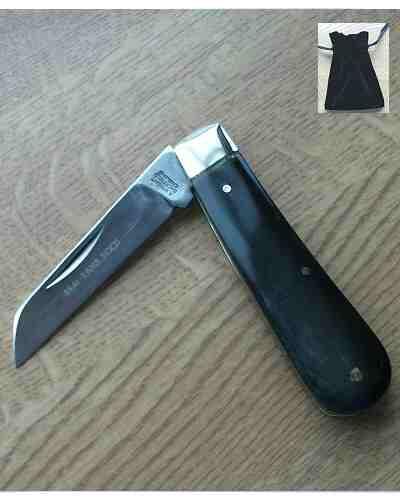 Lambfoot Blade Pocket Knife Buffalo Handle by A Wright
