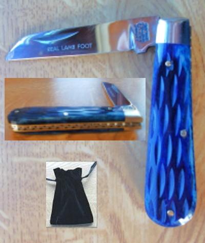 Lambfoot Blade Pocket Knife Jigbone Handle with Workback by A. W