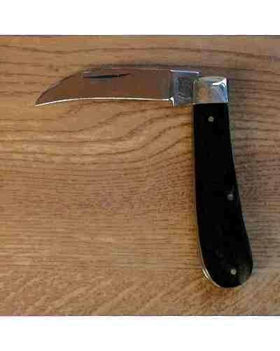 Peach Pruner Blade Pocket Knife Buffalo Handle by A Wright