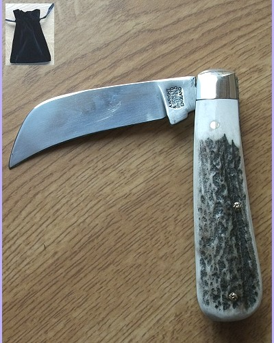 Pruner Blade Pocket Knife Stag Handle by A Wright