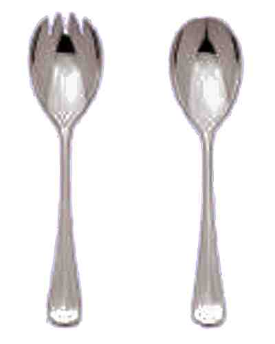 Salad Servers (Pair) - Sheffield Cutlery EPSS 30 Micron Grecian