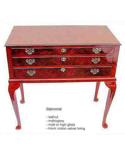 Balmoral 3 Drawer Table Cabinet <font size=&quot;1&quot;>Click For Options