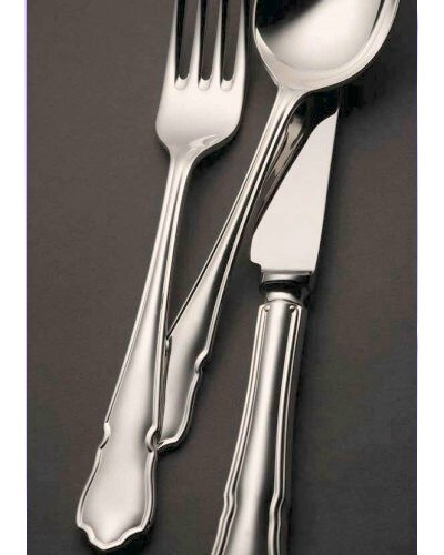 62 Piece Set (Loose) - Sheffield Cutlery Sterling Silver Dubarry