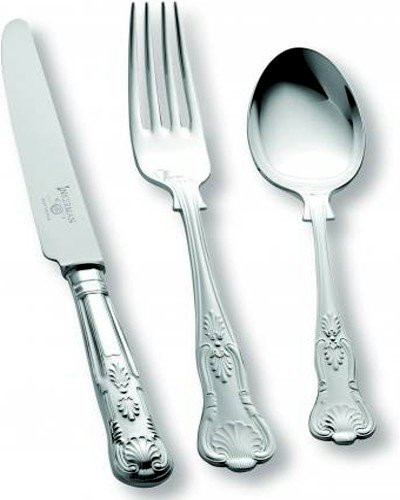 84 Piece Set (Loose) - Sheffield Cutlery EPNS 10 Micron Kings